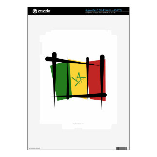 Senegal Brush Flag iPad 3 Decal