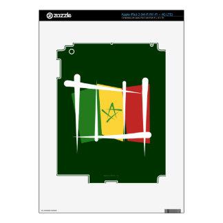 Senegal Brush Flag Skin For iPad 3