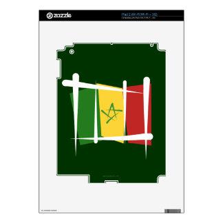 Senegal Brush Flag iPad 2 Decal