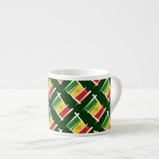 Senegal Brush Flag Espresso Mugs