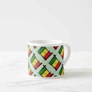 Senegal Brush Flag Espresso Cups