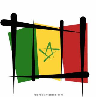 Senegal Brush Flag Statuette