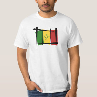 Senegal Brush Flag T-Shirt