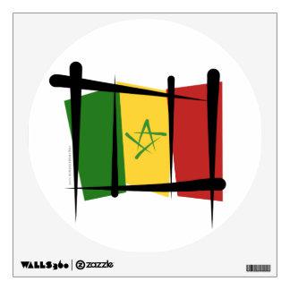 Senegal Brush Flag Wall Decal