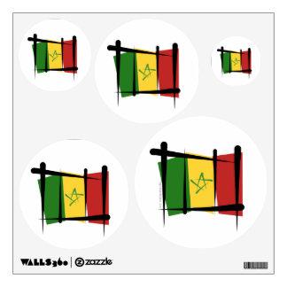 Senegal Brush Flag Wall Sticker