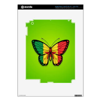 Senegal Butterfly Flag on Green Decal For iPad 3