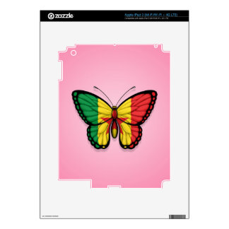 Senegal Butterfly Flag on Pink iPad 3 Skins