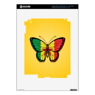 Senegal Butterfly Flag on Yellow iPad 3 Skins