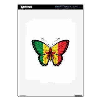 Senegal Butterfly Flag Skin For iPad 3