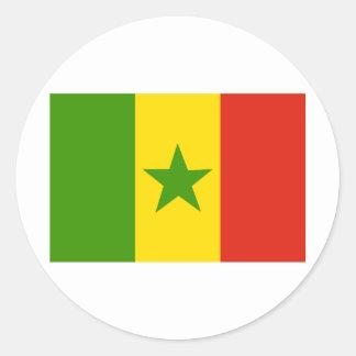 Senegal Classic Round Sticker