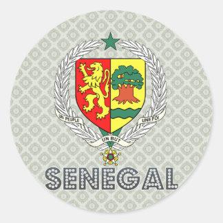 Senegal Coat of Arms Classic Round Sticker