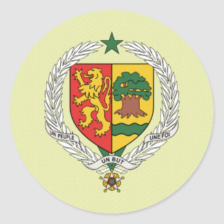 Senegal Coat of Arms detail Classic Round Sticker