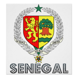 Senegal Coat of Arms Poster