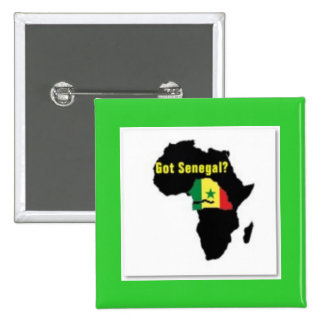 Senegal Coat of arms T-shirt And Etc 2 Inch Square Button