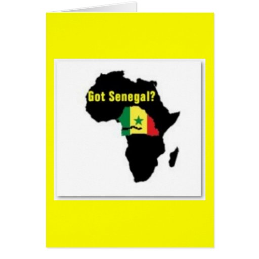 Senegal Coat of arms T-shirt And Etc Greeting Cards
