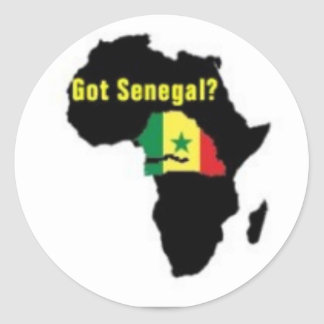 Senegal Coat of arms T-shirt And Etc Classic Round Sticker