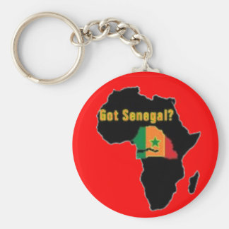 Senegal Coat of arms T-shirt And Etc Basic Round Button Keychain