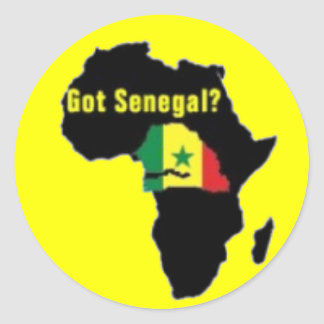 Senegal Coat of arms T-shirt And Etc Round Stickers