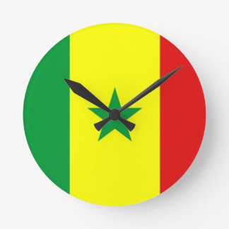 senegal country flag clock