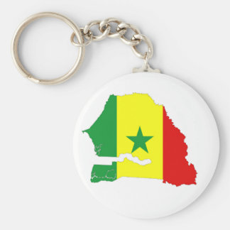 senegal country flag map shape silhouette basic round button keychain