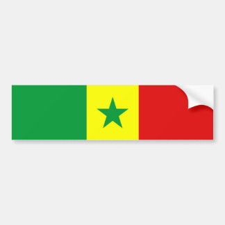 senegal country flag nation symbol bumper sticker