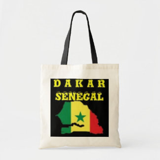 SENEGAL (DAKAR)  MAP T-SHIRT AND ETC BUDGET TOTE BAG