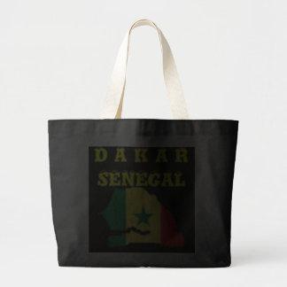 SENEGAL (DAKAR)  MAP T-SHIRT AND ETC JUMBO TOTE BAG