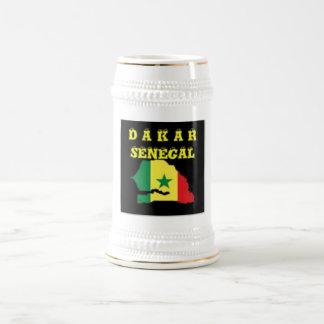 SENEGAL (DAKAR)  MAP T-SHIRT AND ETC BEER STEIN