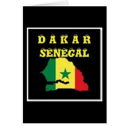 SENEGAL (DAKAR)  MAP T-SHIRT AND ETC GREETING CARD