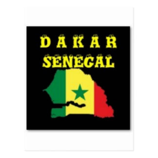 SENEGAL (DAKAR)  MAP T-SHIRT AND ETC POSTCARD