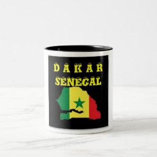 SENEGAL (DAKAR)  MAP T-SHIRT AND ETC Two-Tone COFFEE MUG