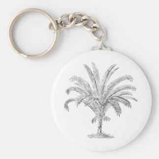 Senegal Date Palm Basic Round Button Keychain