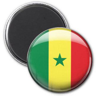 Senegal Flag 2 Inch Round Magnet