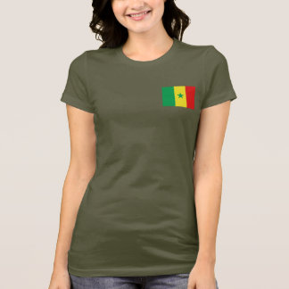 Senegal Flag and Map dk T-Shirt