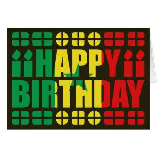 Senegal Flag Birthday Card