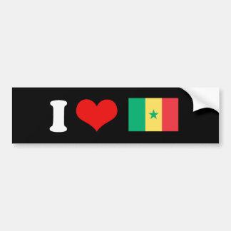 Senegal Flag Bumper Sticker