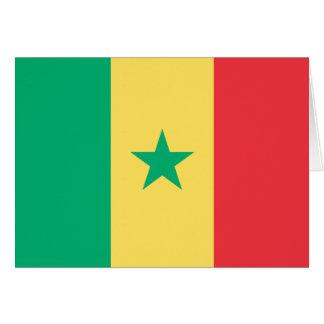 Senegal Flag Card