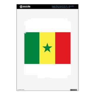 Senegal Flag Decals For iPad 3