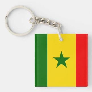 Senegal Flag Double-Sided Square Acrylic Keychain