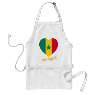 Senegal Flag Heart Adult Apron