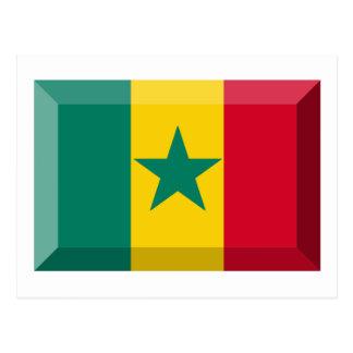 Senegal Flag Jewel Postcard