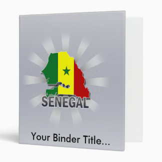Senegal Flag Map 2.0 Vinyl Binder