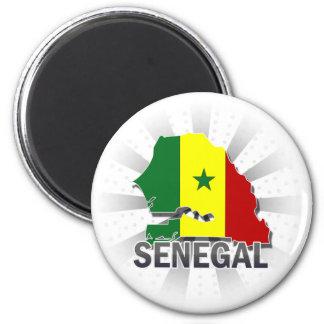 Senegal Flag Map 2.0 Magnet