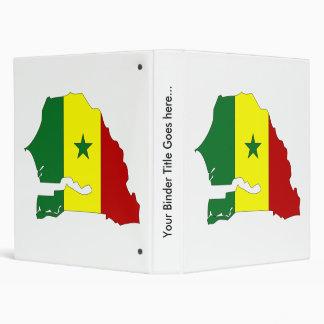 Senegal Flag Map full size 3 Ring Binder
