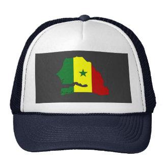 Senegal flag map mesh hats