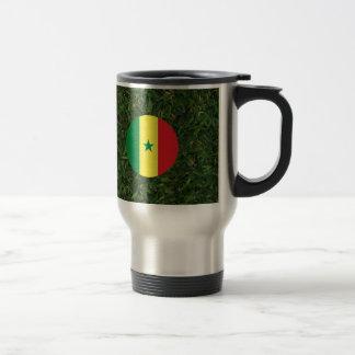 Senegal Flag on Grass Travel Mug