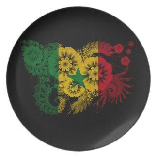 Senegal Flag Party Plate