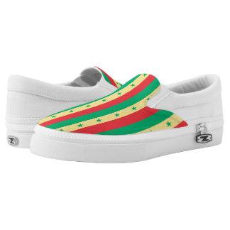 Senegal Flag -.png Slip-On Sneakers