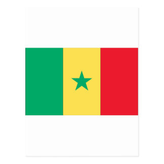 Senegal flag postcard