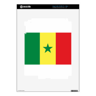 Senegal Flag Skins For iPad 2